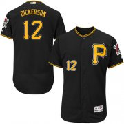 Wholesale Cheap Pirates #12 Corey Dickerson Black Flexbase Authentic Collection Stitched MLB Jersey