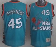 Wholesale Cheap NBA 1996 All-Star #45 Alonzo Mourning Green Swingman Throwback Jersey