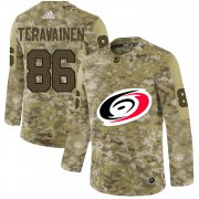 Wholesale Cheap Adidas Hurricanes #86 Teuvo Teravainen Camo Authentic Stitched NHL Jersey