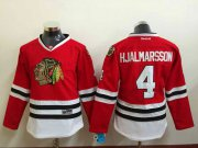 Wholesale Cheap Blackhawks #4 Niklas Hjalmarsson Red Stitched Youth NHL Jersey