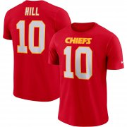 Wholesale Cheap Nike Kansas City Chiefs #10 Tyreek Hill Player Pride Wordmark 3.0 Name & Number Performance T-Shirt Red
