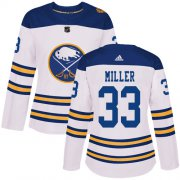 Wholesale Adidas Sabres #23 Sam Reinhart White Road Authentic Women's Stitched NHL Jersey