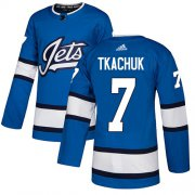 Wholesale Cheap Adidas Jets #7 Keith Tkachuk Blue Alternate Authentic Stitched NHL Jersey