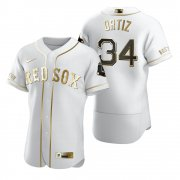 Wholesale Cheap Boston Red Sox #34 David Ortiz White Nike Men's Authentic Golden Edition MLB Jersey