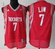Wholesale Cheap Houston Rockets #7 Jeremy Lin Red Swingman Jersey