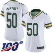 Wholesale Cheap Nike Packers #50 Blake Martinez White Women's Stitched NFL 100th Season Vapor Limited Jersey