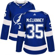 Cheap Adidas Lightning #35 Curtis McElhinney Blue Home Authentic Women's Stitched NHL Jersey