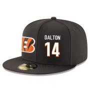 Wholesale Cheap Cincinnati Bengals #14 Andy Dalton Snapback Cap NFL Player Black with White Number Stitched Hat