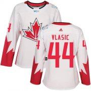 Wholesale Cheap Team Canada #44 Marc-Edouard Vlasic White 2016 World Cup Women's Stitched NHL Jersey