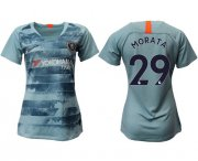 Wholesale Cheap Women's Chelsea #29 Morata Third Soccer Club Jersey