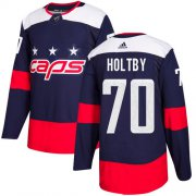 Wholesale Cheap Adidas Capitals #70 Braden Holtby Navy Authentic 2018 Stadium Series Stitched Youth NHL Jersey