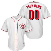 Wholesale Cheap Cincinnati Reds Majestic Cool Base Custom Jersey White