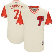 "Wholesale Cheap Phillies #7 Maikel Franco Cream ""Compa F"" Players Weekend Authentic Stitched MLB Jersey"