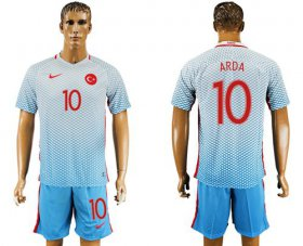 Wholesale Cheap Turkey #10 Arda Away Soccer Country Jersey