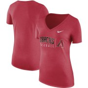 Wholesale Cheap Arizona Diamondbacks Nike Women's Tri-Blend Practice T-Shirt Red
