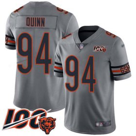 Wholesale Cheap Nike Bears #94 Robert Quinn Silver Men\'s Stitched NFL Limited Inverted Legend 100th Season Jersey
