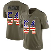 Wholesale Cheap Nike Seahawks #54 Bobby Wagner Olive/USA Flag Youth Stitched NFL Limited 2017 Salute to Service Jersey
