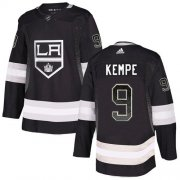 Wholesale Cheap Adidas Kings #9 Adrian Kempe Black Home Authentic Drift Fashion Stitched NHL Jersey