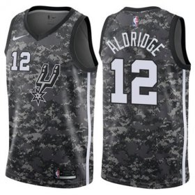 Wholesale Cheap Nike San Antonio Spurs #12 LaMarcus Aldridge Camo NBA Swingman City Edition Jersey