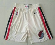 Wholesale Cheap Men's Portland Trail Blazers Cream 2020 City Edition NBA Swingman Shorts