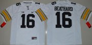 Wholesale Cheap Men's Iowa Hawkeyes #16 C. J. Beathard White Limited Stitched College Football Nike NCAA Jersey