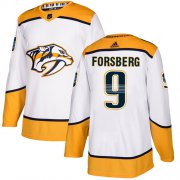 Wholesale Cheap Adidas Predators #9 Filip Forsberg White Road Authentic Stitched Youth NHL Jersey