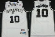 Wholesale Cheap San Antonio Spurs #10 Dennis Rodman White Swingman Throwback Jersey