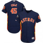 Wholesale Cheap Astros #45 Gerrit Cole Navy Blue Flexbase Authentic Collection 2019 World Series Bound Stitched MLB Jersey
