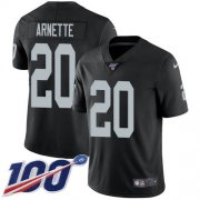 Wholesale Cheap Nike Raiders #20 Damon Arnette Black Team Color Men's Stitched NFL 100th Season Vapor Untouchable Limited Jersey