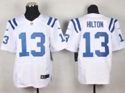 Wholesale Cheap Nike Colts #13 T.Y. Hilton White Men's Stitched NFL Elite Jersey