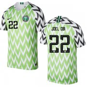 Wholesale Cheap Nigeria #22 Joel Obi Home Soccer Country Jersey