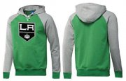 Wholesale Cheap Los Angeles Kings Pullover Hoodie Green & Grey