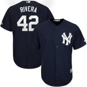 Wholesale Cheap New York Yankees #42 Mariano Rivera Majestic 2019 Hall of Fame Cool Base Player Jersey Navy