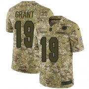 Wholesale Cheap Nike Dolphins #19 Jakeem Grant Camo Men's Stitched NFL Limited 2018 Salute To Service Jersey
