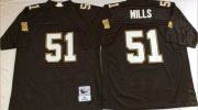 Wholesale Cheap Mitchell And Ness Saints #51 Sam Mills Black Throwback Stitched NFL Jersey