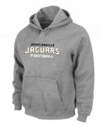 Wholesale Cheap Jacksonville Jaguars Authentic Font Pullover Hoodie Grey