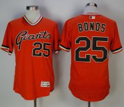 Wholesale Cheap Giants #25 Barry Bonds Orange Flexbase Authentic Collection Cooperstown Stitched MLB Jersey