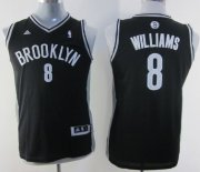 Cheap Brooklyn Nets #8 Deron Williams Black Kids Jersey