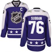 Wholesale Cheap Predators #76 P.K Subban Purple 2017 All-Star Central Division Women's Stitched NHL Jersey