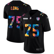 Cheap Las Vegas Raiders #75 Howie Long Men's Nike Multi-Color Black 2020 NFL Crucial Catch Vapor Untouchable Limited Jersey