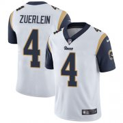 Wholesale Cheap Nike Rams #4 Greg Zuerlein White Youth Stitched NFL Vapor Untouchable Limited Jersey