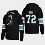 Wholesale Cheap San Jose Sharks #72 Tim Heed Black adidas Lace-Up Pullover Hoodie