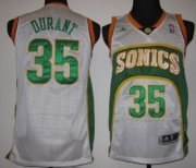 Wholesale Cheap Seattle Supersonics #35 Kevin Durant 1994-95 White Swingman Jersey