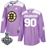 Wholesale Cheap Adidas Bruins #90 Marcus Johansson Purple Authentic Fights Cancer 2019 Stanley Cup Final Stitched NHL Jersey