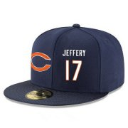 Wholesale Cheap Chicago Bears #17 Alshon Jeffery Snapback Cap NFL Player Navy Blue with White Number Stitched Hat