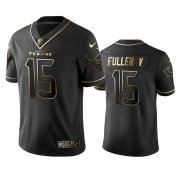 Wholesale Cheap Texans #15 Will Fuller V Men's Stitched NFL Vapor Untouchable Limited Black Golden Jersey
