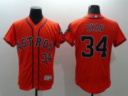 Wholesale Astros #34 Nolan Ryan Orange Flexbase Authentic Collection Stitched Baseball Jersey