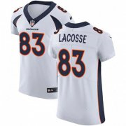 Wholesale Cheap Nike Broncos #83 Matt LaCosse White Men's Stitched NFL Vapor Untouchable Elite Jersey