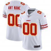 Wholesale Cheap Kansas City Chiefs Custom Nike White Team Logo Vapor Limited NFL Jersey