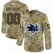 Wholesale Cheap Men's Adidas Sharks Personalized Camo Authentic NHL Jersey